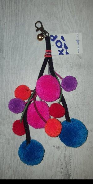 witziger Schlüsselanhänger/Taschenanhänger aus Spanien mit 10 Bommel /Puschel  *NEU*