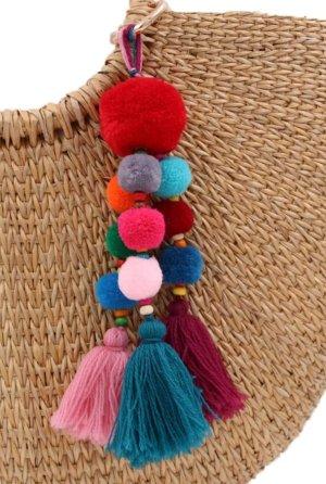 witziger Schlüsselanhänger/Taschenanhänger mit bunten Bommeln und Quaste *NEU*