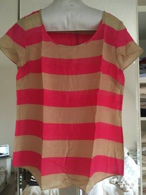 Witziges, beige-pink gestreiftes Shirt von GAP (Etikett entfernt)