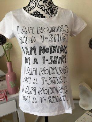 Witziges T-Shirt mit schwarzen Strasssteinen Hallhuber
