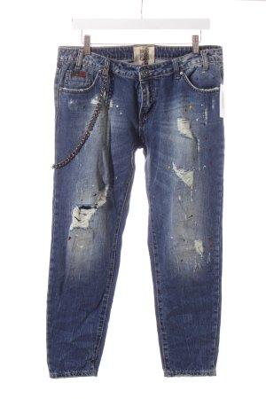 Wiya 7/8 Jeans Punktemuster Destroy-Optik