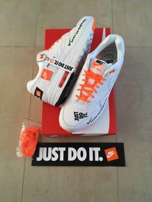 WMNs Air Max 1 LX Größe 41 weiß orange just do it