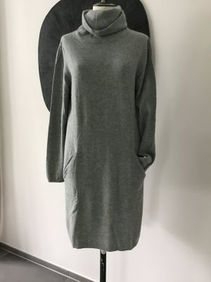 Allude Knitted Dress silver-colored cashmere