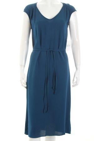Wolfen Midikleid blau Eleganz-Look