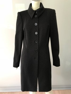 Wolford Blazer Mantel Schwarz Braun L 42 Stretch Wolle Mix Coat Black Brown TOP