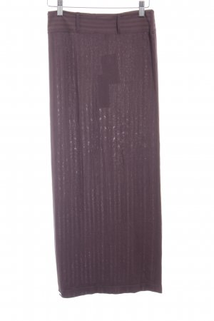 Wolford Bleistiftrock dunkelbraun Streifenmuster minimalistischer Stil