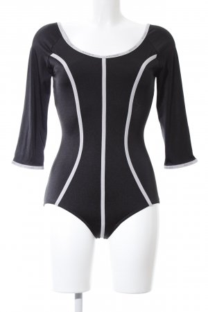 Wolford Blusa tipo body negro-blanco look casual