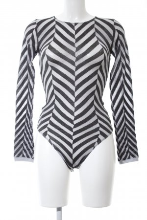 Wolford Bodysuit Blouse black-white striped pattern casual look