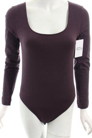 Wolford Blusen-Body dunkelviolett minimalistischer Stil