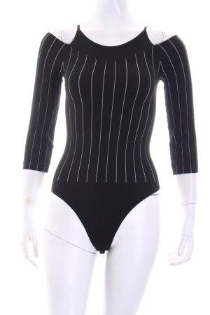 Wolford Blusen-Body schwarz-weiß Streifenmuster Beach-Look