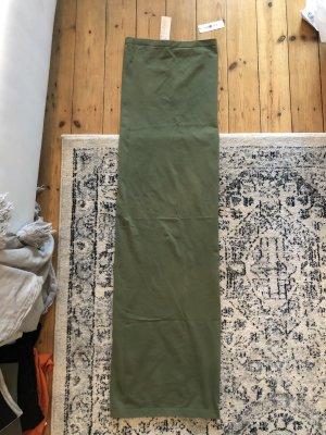 Wolford Fatal Schlauchkleid Bandeau Kleid Khaki Olive Top Stretch
