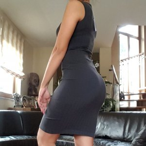 Wolford Gent Dress Kleid Bodycon Medium beluga/black