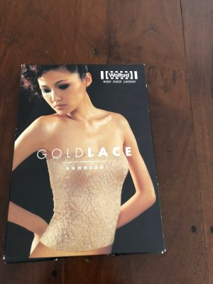 Wolford Bandeau Top gold-colored-natural white lurex