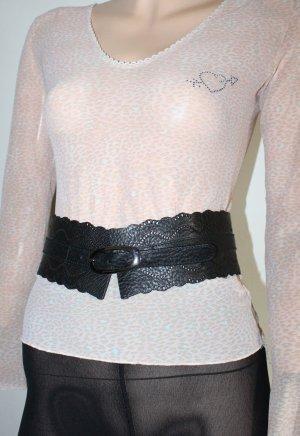 WOLFORD Gürtel schwarz breit Leder W70