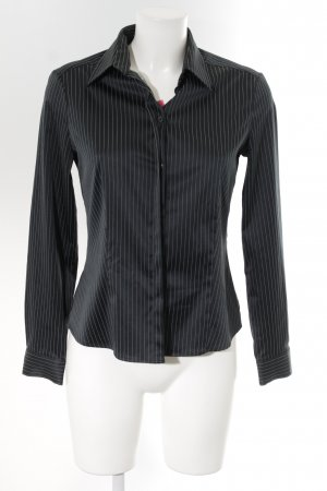 Wolford Hemd-Bluse schwarz Nadelstreifen Business-Look