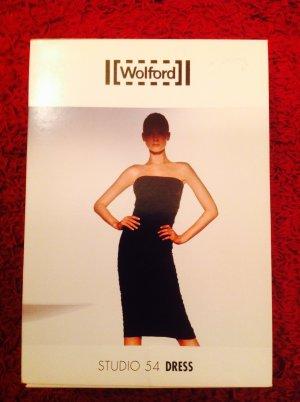 Wolford Vestido bandeau negro tejido mezclado