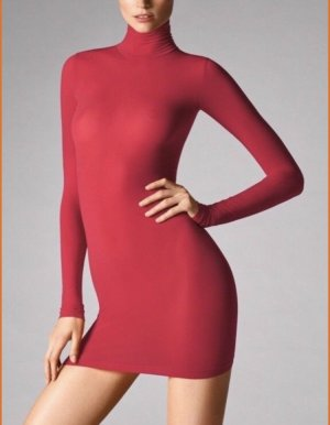Wolford Rollkragenpullover/Kleid in Farbe Lipstick Neu mit Etikett