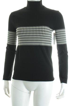 Wolford Rollkragenpullover schwarz-weiß abstraktes Muster Street-Fashion-Look