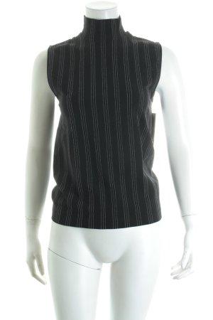 Wolford Rollkragentop schwarz-weiß Streifenmuster Street-Fashion-Look