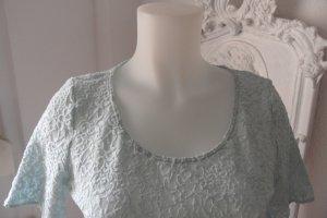 Wolford Top en maille crochet bleu azur cupro
