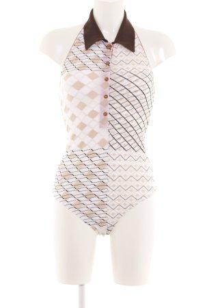 Wolford Shirtbody grafisches Muster extravaganter Stil