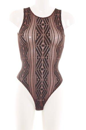 Wolford Shirtbody braun grafisches Muster Elegant