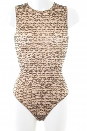 Wolford Shirtbody nude-schwarz abstraktes Muster Business-Look