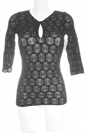 Wolford Spitzenbluse schwarz Punktemuster Party-Look
