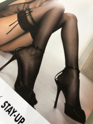 WOLFORD STAY-UP Garden Party LARGE  in schwarz