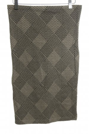 Wolford Stretchrock goldfarben-schwarz abstraktes Muster Casual-Look