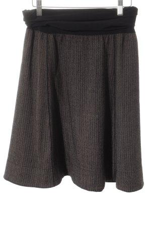 Wolford Stretchrock schwarz-graubraun Casual-Look