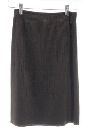 Wolford Stretchrock schwarzbraun Streifenmuster schlichter Stil