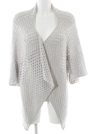 Wolford Veste en tricot gris clair motif tricoté lâche style décontracté