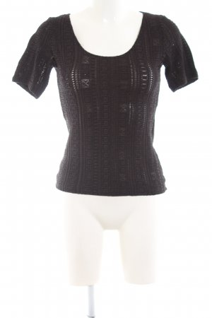 Wolford T-Shirt braun Allover-Druck Casual-Look