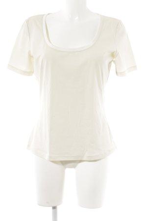 Wolford Camiseta crema look casual
