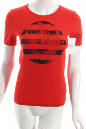 Wolford T-Shirt rot-schwarz Motivdruck Casual-Look