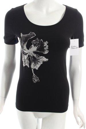Wolford T-Shirt schwarz-weiß Motivdruck Casual-Look