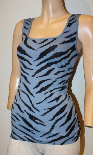 WOLFORD Top blau schwarz Zebra Gr. 40