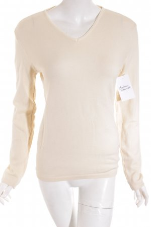 Wolford V-Ausschnitt-Pullover creme klassischer Stil