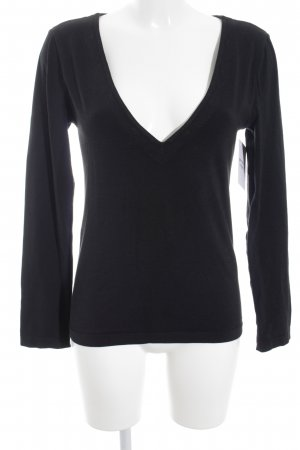 Wolford V-Ausschnitt-Pullover schwarz Casual-Look