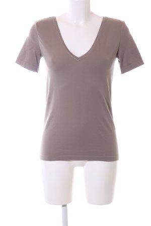 Wolford V-Ausschnitt-Shirt braun Casual-Look