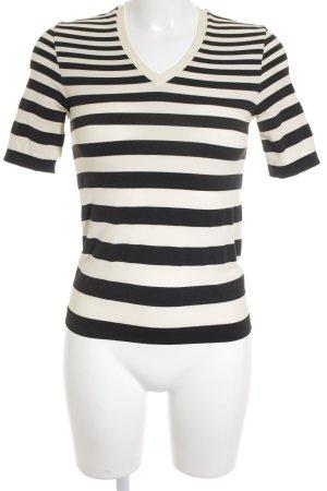 Wolford V-Ausschnitt-Shirt schwarz-creme Business-Look