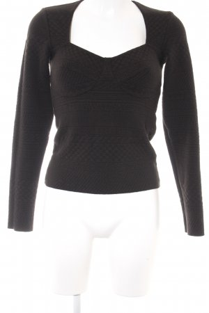 Wolford Wollpullover dunkelbraun abstraktes Muster Casual-Look