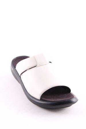 Wolky Pantoletten weiß-schwarz schlichter Stil