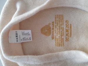 Woll-Barett creme weiß WOOLMARK 100% reine Wolle