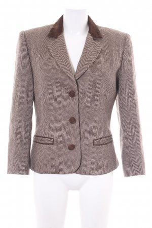 Wool Blazer brown-natural white zigzag pattern elegant