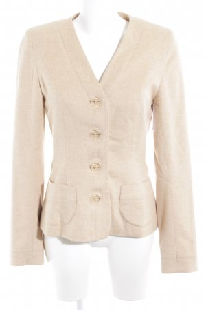 Woll-Blazer creme Casual-Look