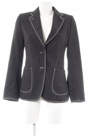 Woll-Blazer dunkelgrau-wollweiß Nadelstreifen Business-Look