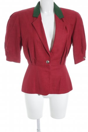 Wool Blazer dark red-green extravagant style