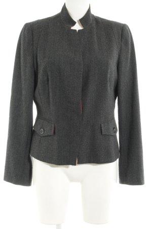 Blazer en laine motif à chevrons style d'affaires